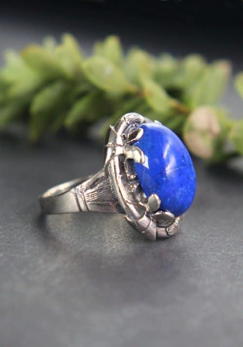 Trachtenschmuck Ring Silber seitliche Ansicht