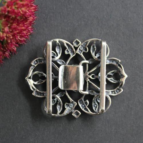 Trachten Accessoire - Dirndlschließe Silber, hintere Ansicht