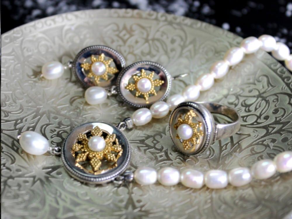 Trachtenschmuck Perlen Schmuckset