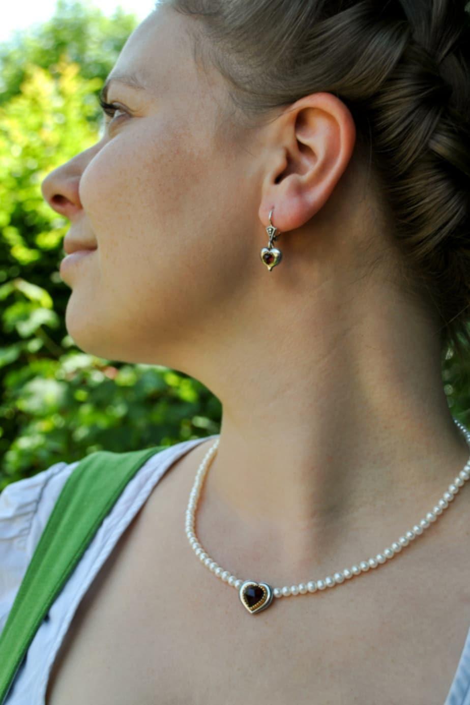 Trachtenschmuck Perlenset Rita ohne Schleife
