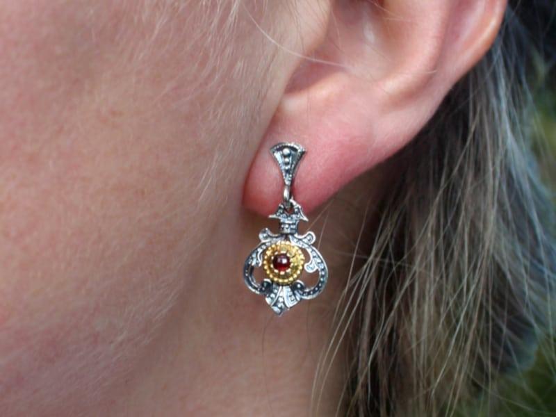 Trachtenschmuck Set Ohrringe Fiona getragen_mb