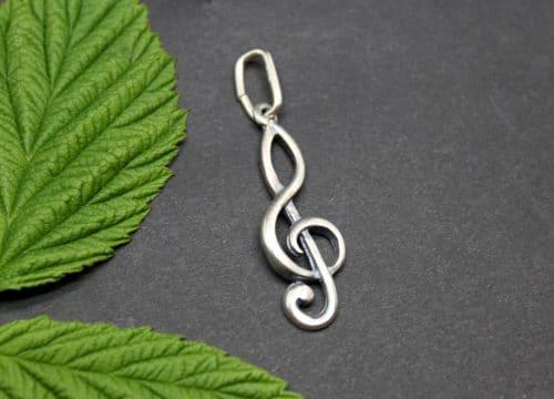 Uhrketten Anhänger Violinschlüssel, auch für Charivari oder Halskette geeignet