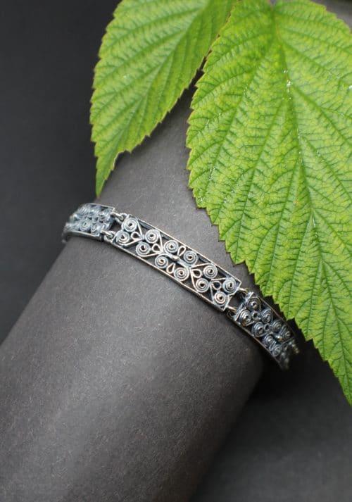 Trachtenschmuck Armband in Silber im Filigranendesign