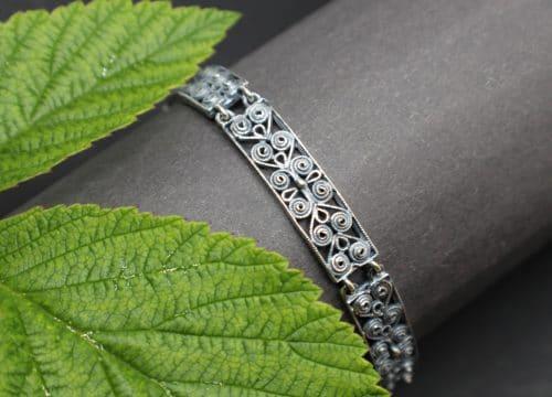 Trachtenschmuck Armband in Altsilber