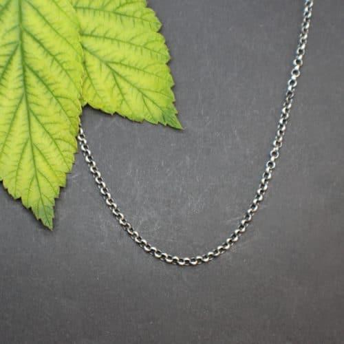 Einfache Silberkette für Trachtenschmuck Anhänger
