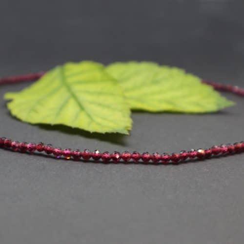 Einfache Granat Halskette für Schmuckanhänger