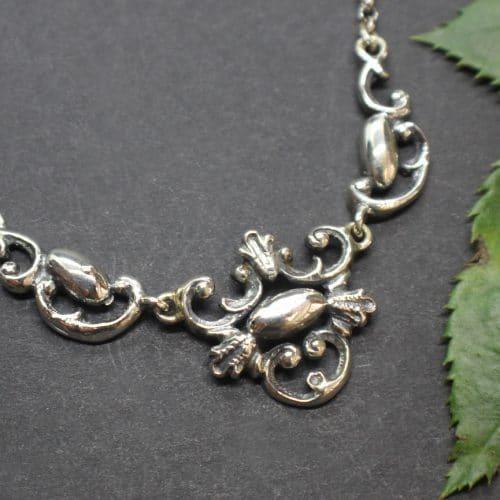 Einfache Trachtenkette in Silber