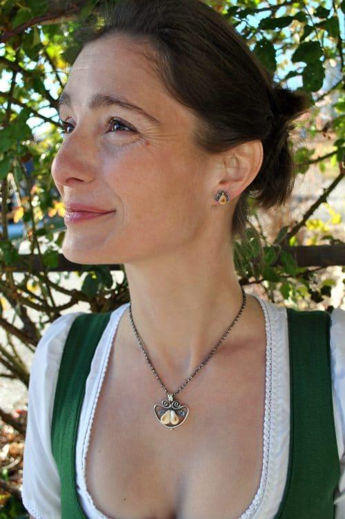 Grandlschmuckset: Ohrringe und Anhänger Jessica Grandl